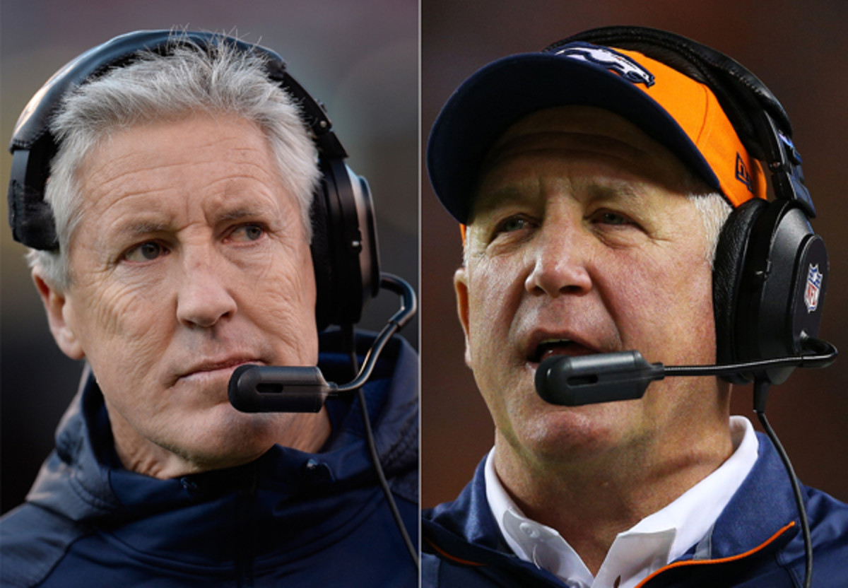 Both Pete Carroll (l.0 and John Fox are hoping to draw from whatever experience their teams have. (Getty Images)