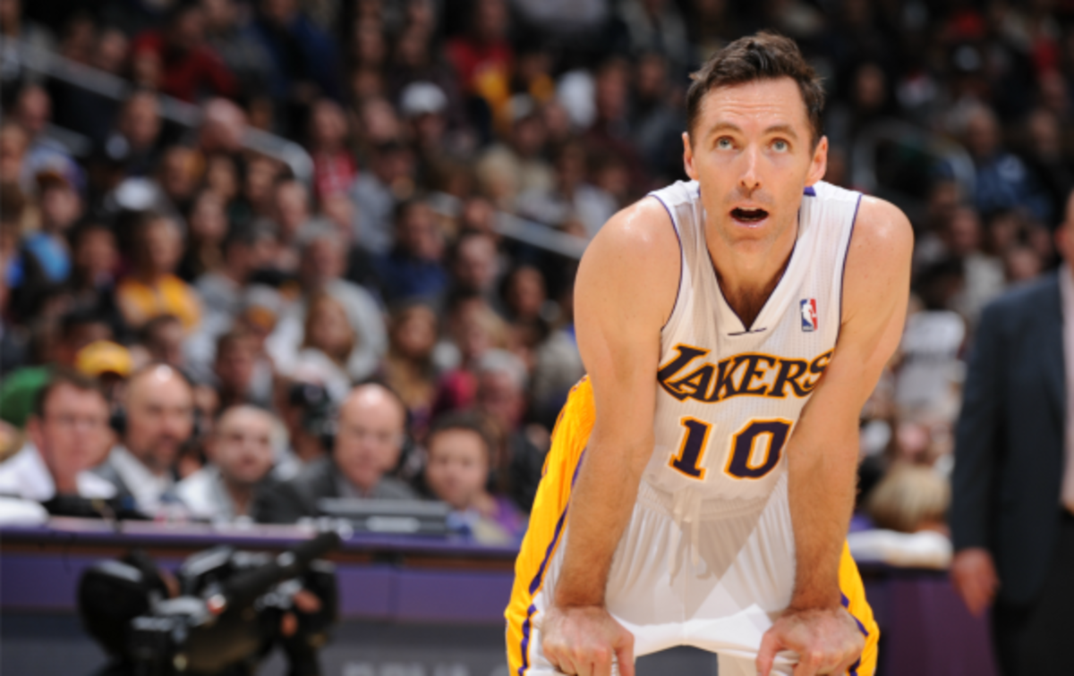 Steve Nash has appeared  in just 12 games for the Lakers this season. (Andrew D. Bernstein/National Basketball/Getty images)