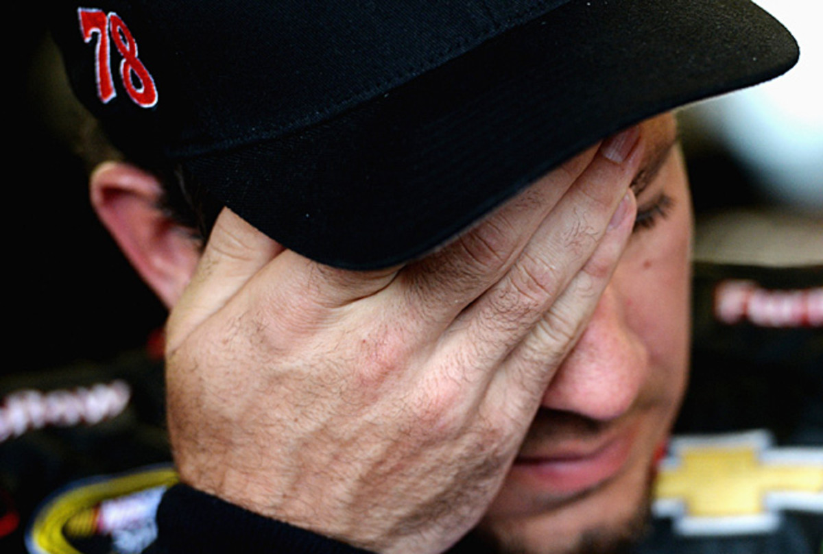 With a lengthy rain delay and a blown engine, it just wasn't Martin Truex's day.