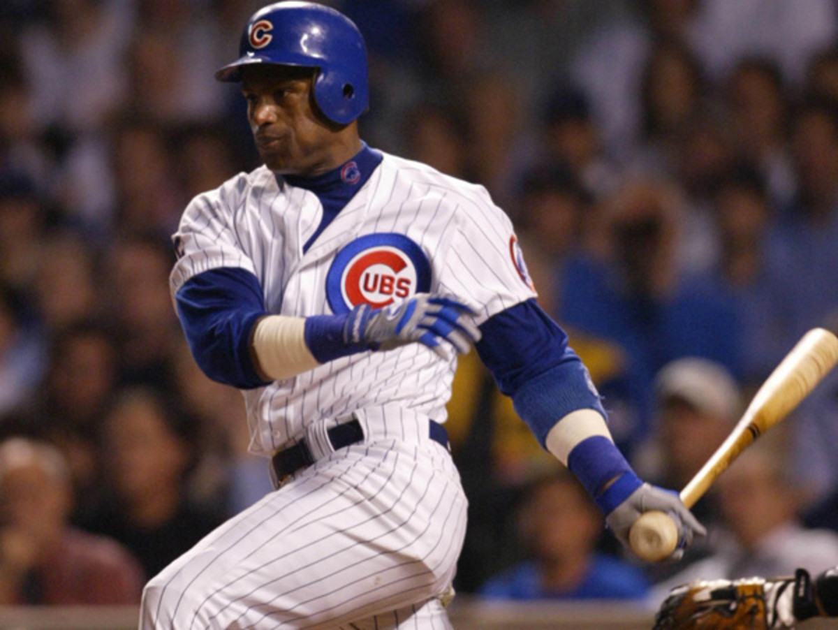 Sammy Sosa wasn't a part of the Cubs' 100th anniversary celebration at Wrigley Field. (Getty Images)