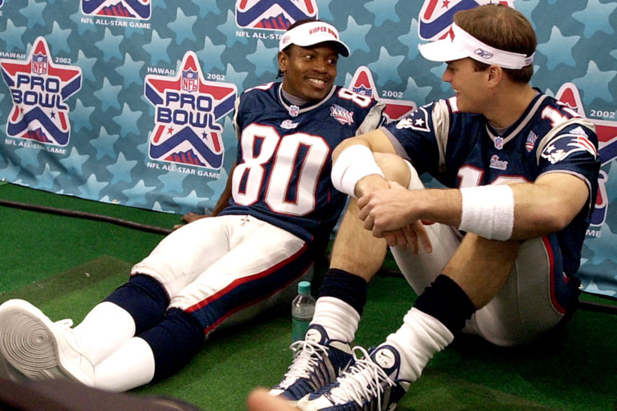 Troy Brown and Brady at the Pro Bowl.