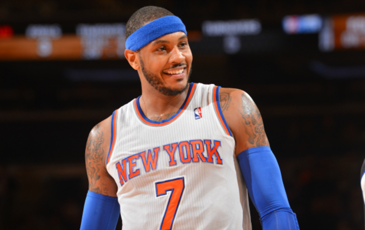 Carmelo Anthony has led the Knicks in scoring with 26.1 ppg this season. (Jesse D. Garrabant/National Basketball)