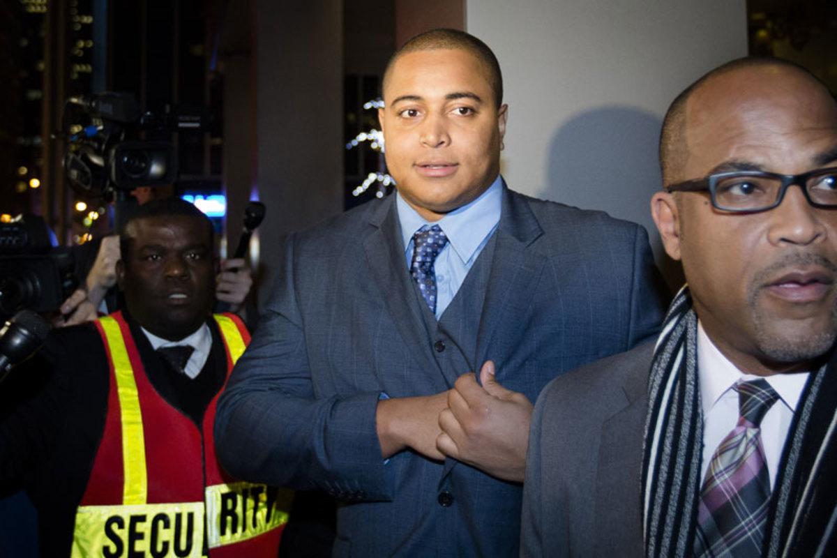 Jonathan Martin, seen here after meeting with Ted Wells in New York in November. (John Minchillo/AP)