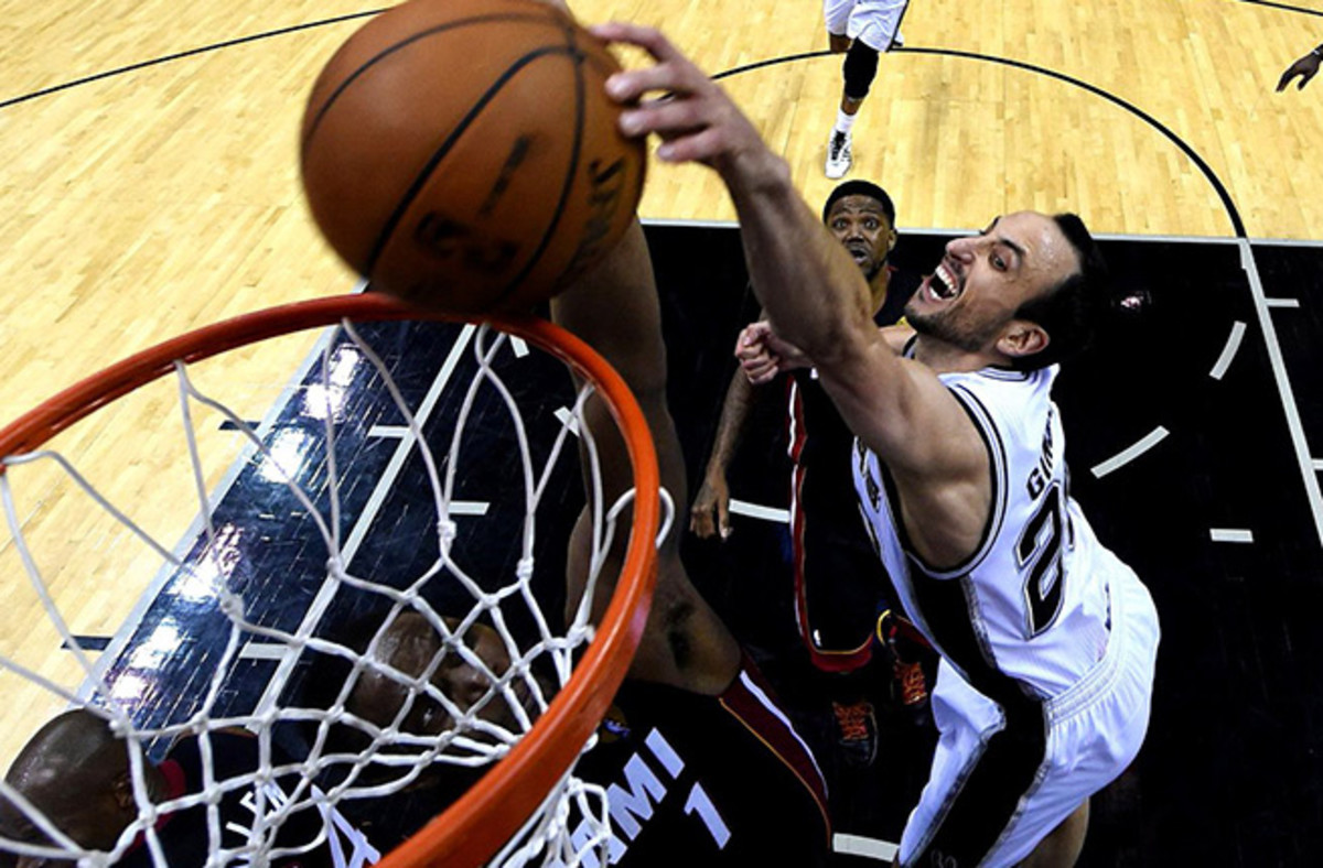 Manu Ginobili finished Game 5 with 19 points (6-of-11) shooting, four rebounds and four assists.