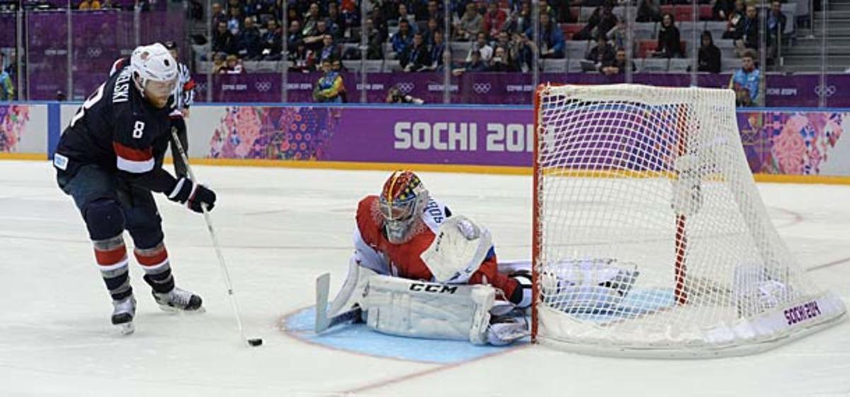 Joe Pavelski of Team USA at Sochi