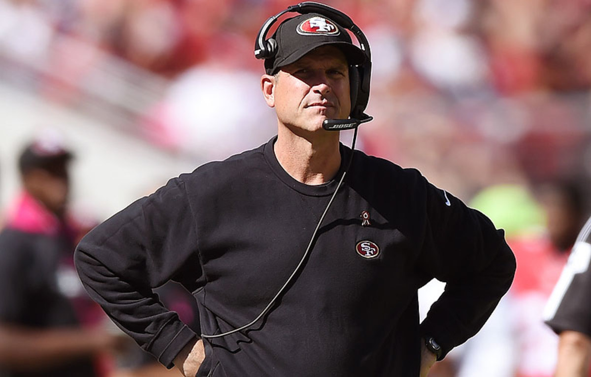 Jim Harbaugh's 49ers have won two straight amid reports the coach won't be back with the team after the 2014 season ends. (Thearon W. Henderson/Getty Images)