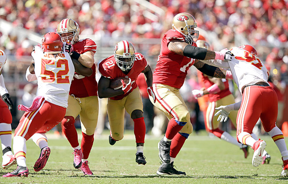 Frank Gore delivered his second straight 100-yard game on Sunday. (Ezra Shaw/Getty Images)