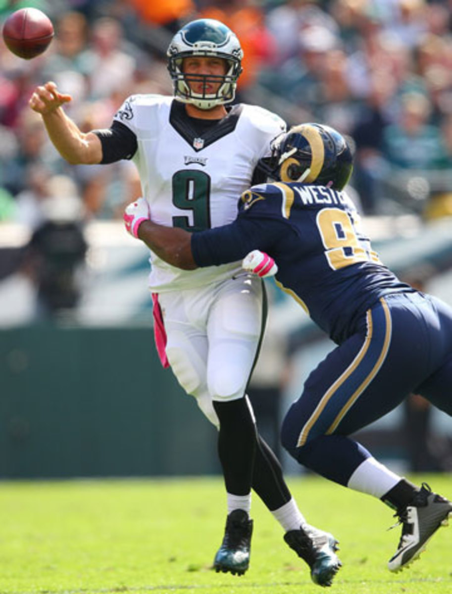 Nick Foles and the Eagles survived a furious Rams comeback attempt on Sunday. (Al Tielemans/SI/The MMQB)