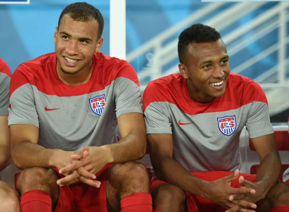 Young German-American talents John Brooks, left, and Julian Green have the potential to be cornerstones for the U.S. national team for years to come.