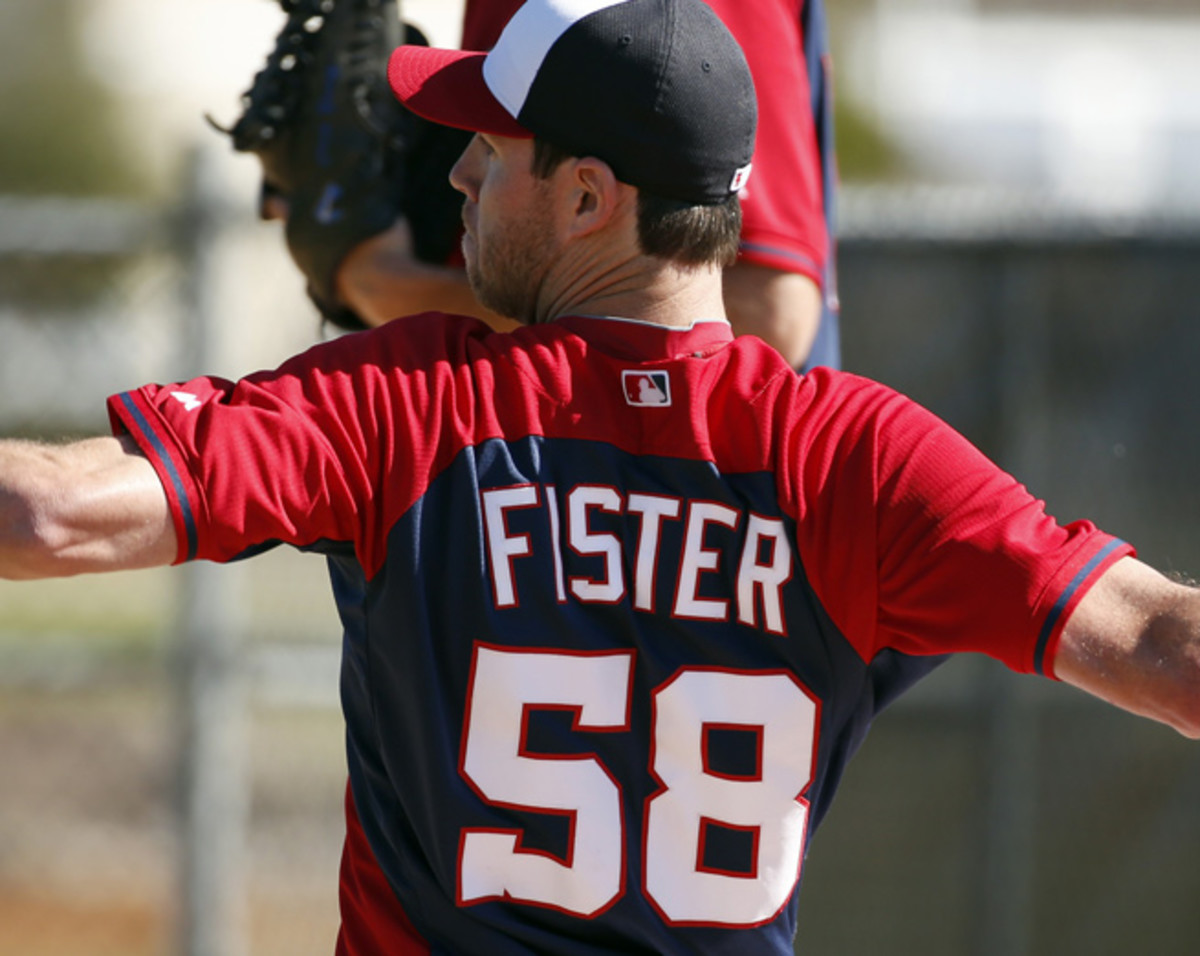 Doug Fister threw 30 pitches over two innings in his first spring start for Washington.