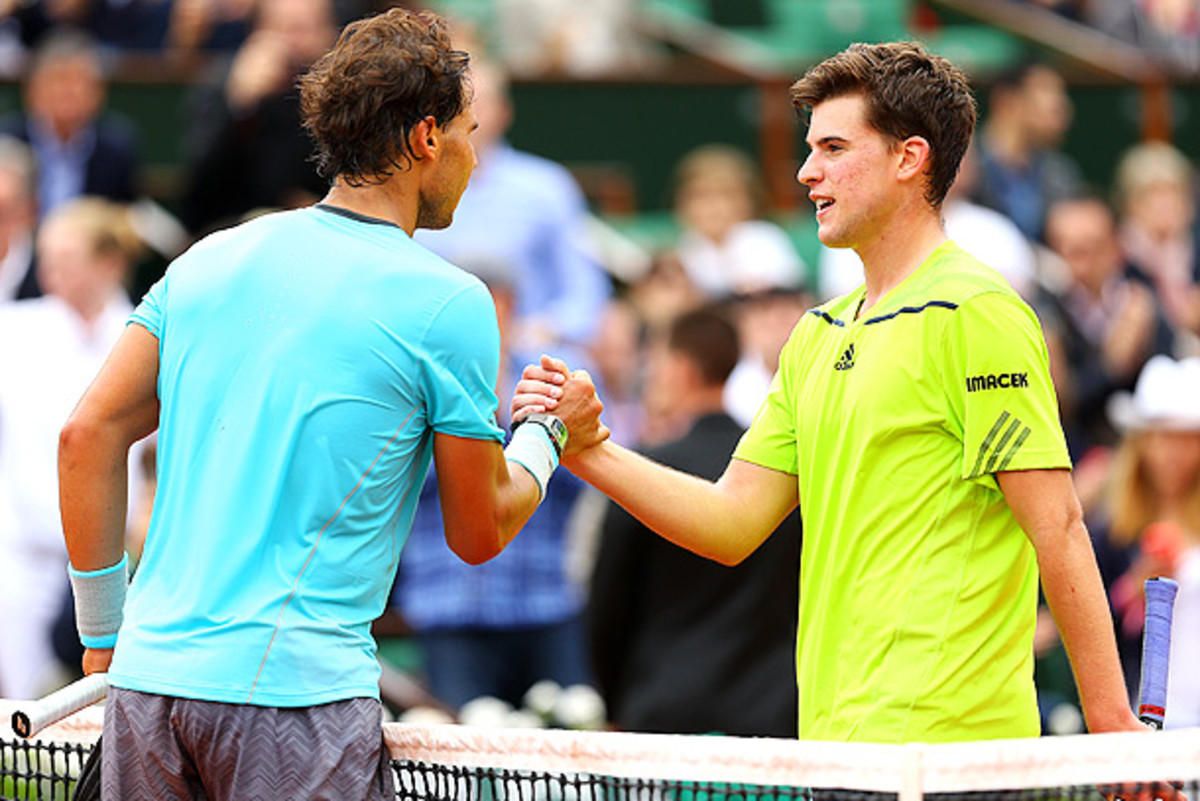 Rafael Nadal was relentless against 20-year-old Dominic Thiem. (Clive Brunskill/Getty Images)
