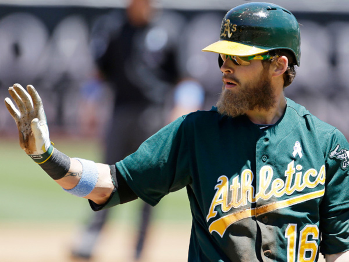 Josh Reddick says hold your applause until after you see his catch. (Eric Risberg/AP)