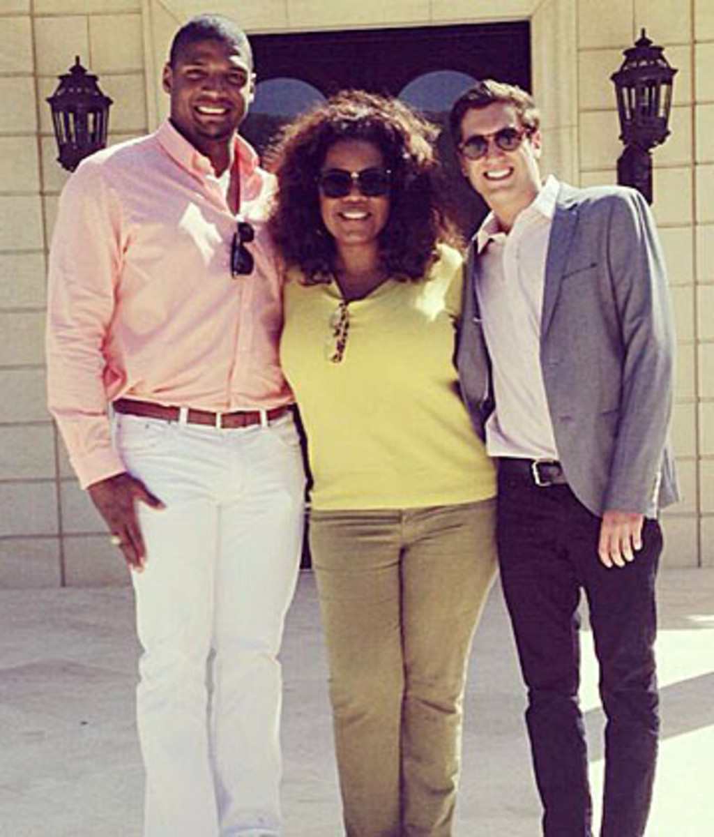 There will be plenty of drama for Michael Sam this summer, but it won't come from the off-the-field documentary series Oprah was planning with Sam and his boyfriend, Vito Cammisano. (@Vitcamm)