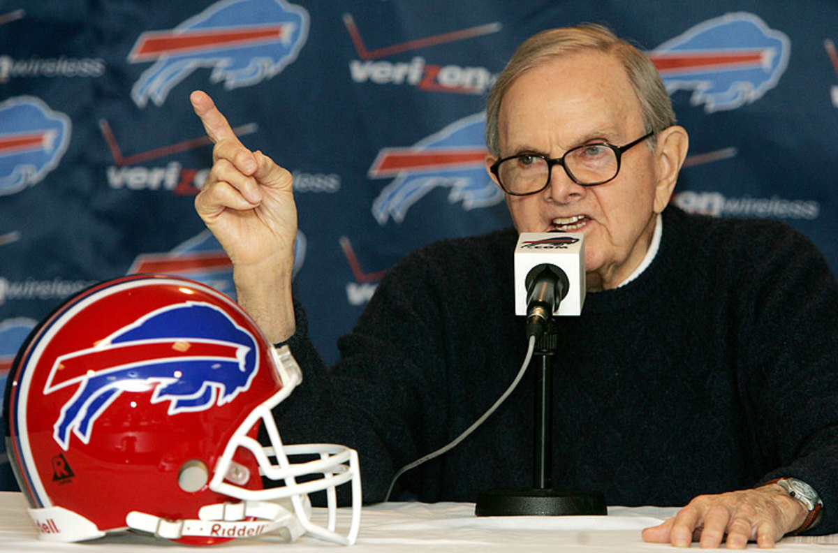 Ralph Wilson founded the Buffalo Bills in 1959, paying a sum of $25,000 to join the AFL. (David Duprey/AP)