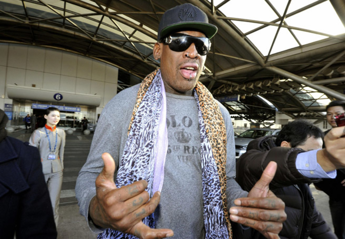Former NBA star Dennis Rodman returns from his latest trip to North Korea, with an eye on fielding an exhibition game there next month.