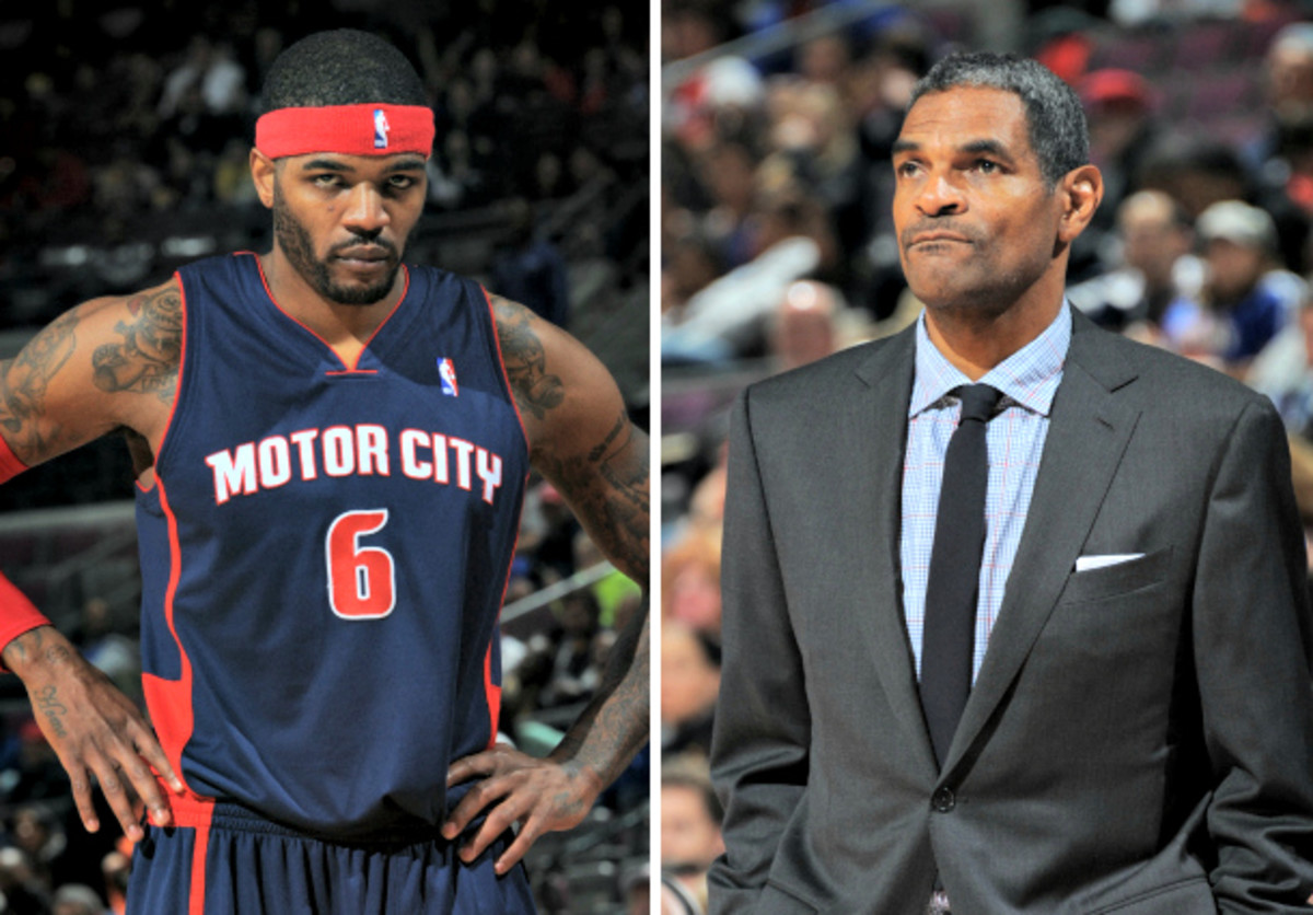 Pistons coach Maurice Cheeks benched Josh Smith during the second half of Detroit's 106-82 loss to Washington on Saturday. (Allen Einstein/NBAE via Getty Images)
