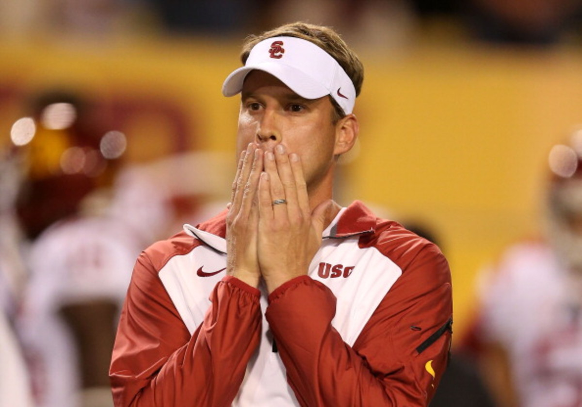 Is Lane Kiffin to blame for his failures, or is it the fault of the schools that hire him? (Danny Moloshok/AP)