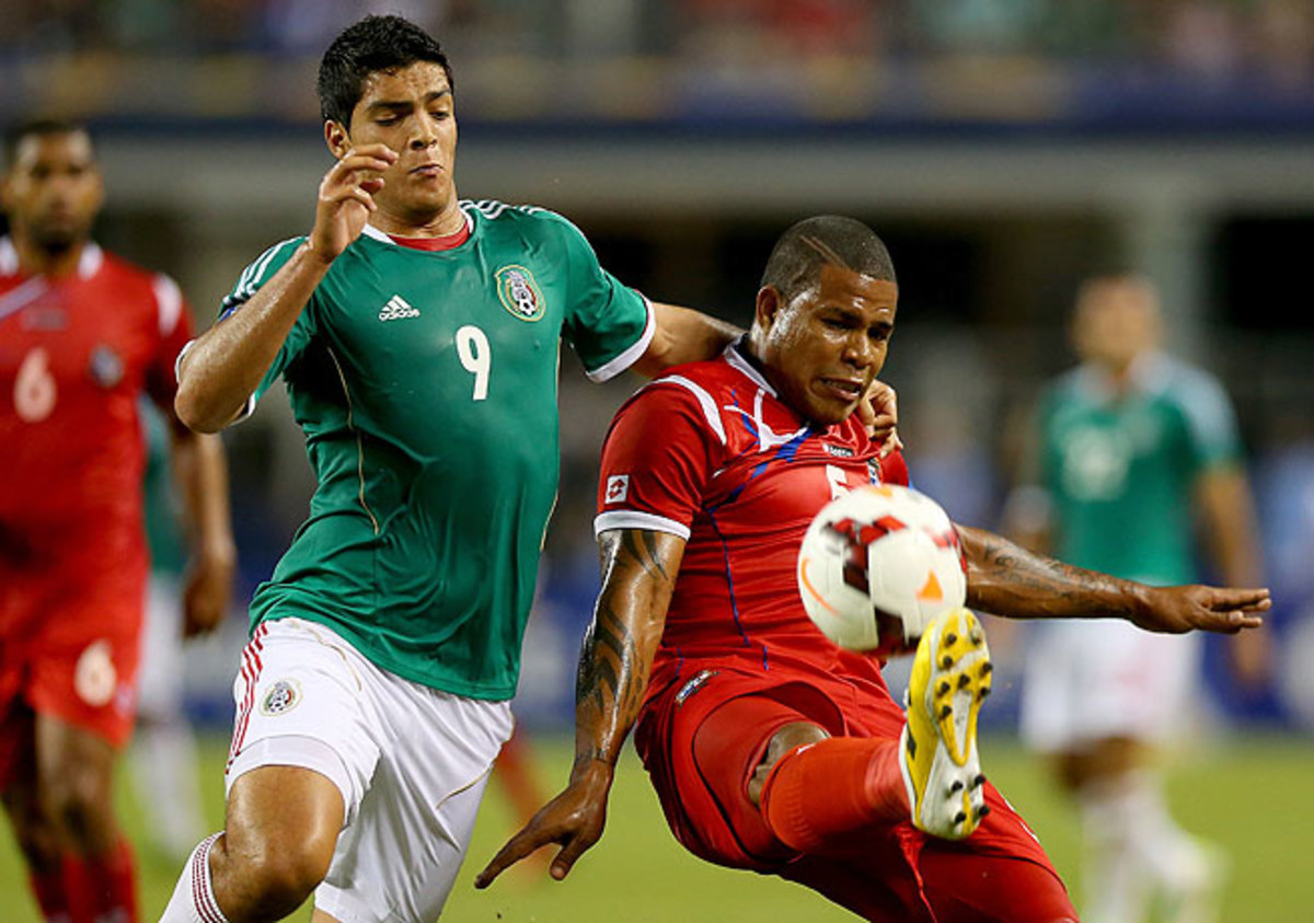 Roman Torres (right) delivered the winning goal for Panama on a 61st-minute header.