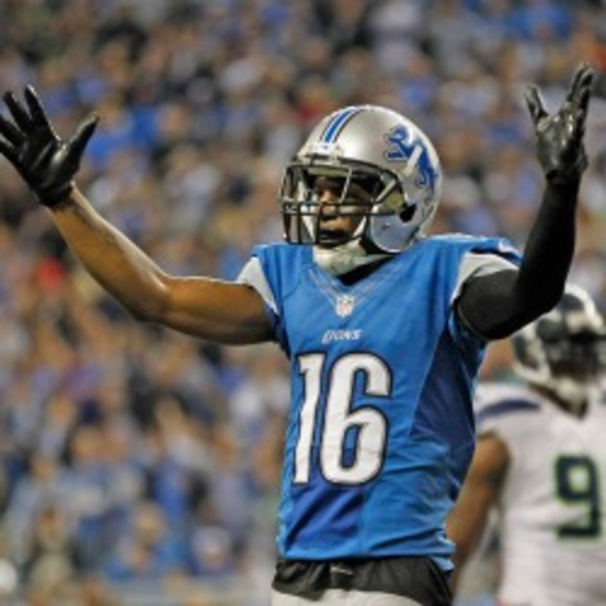 The Lions reportedly released disgruntled wideout Titus Young. (Leon Halip/Getty Images)