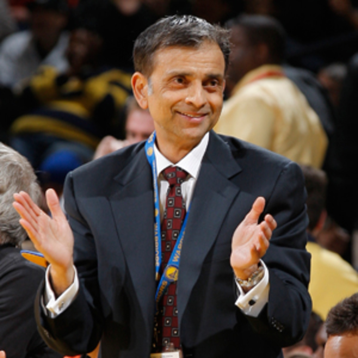 """Warriors minority owner Vivek Ranadive has promoted """"Bollywood Nights"""" at Warriors games. (Rocky Widner/NBAE via Getty Images)"""