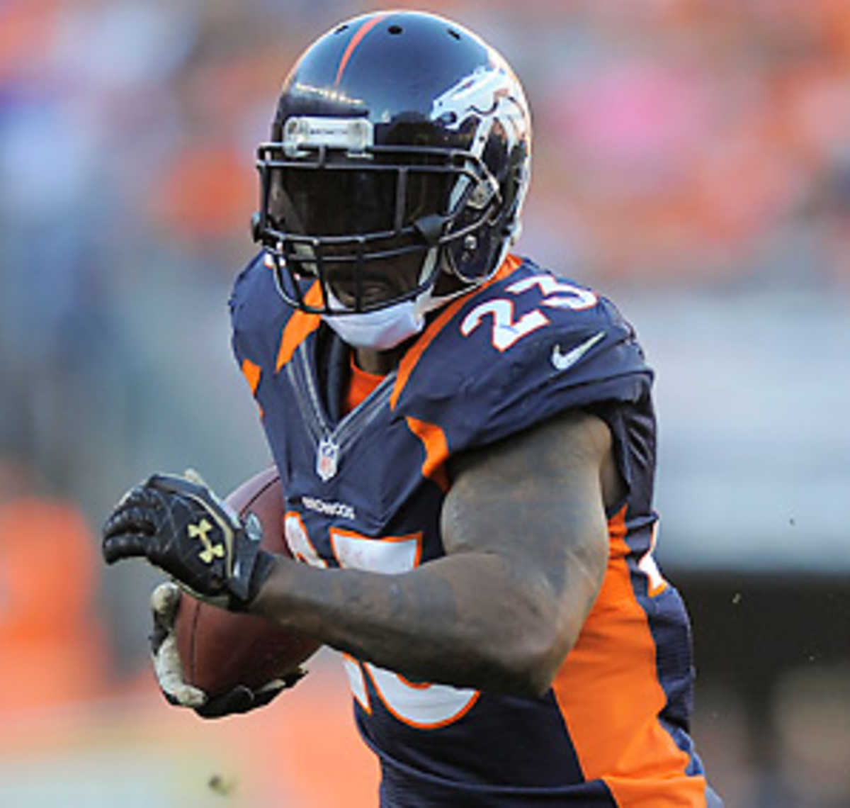 Willis McGahee averaged 4.4 yards per carry in 2012 before his injury.