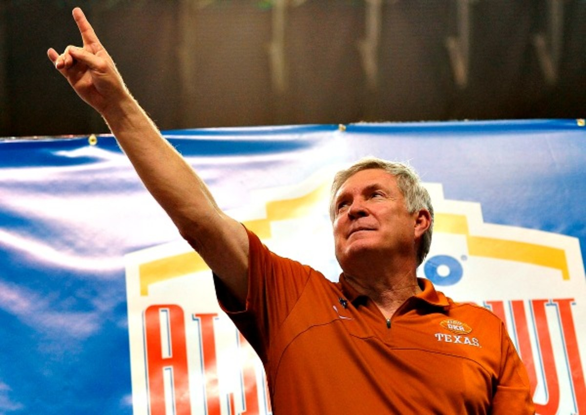 Mack Brown has brought the Texas Longhorns to two BCS national championship games. (Stacy Revere/Getty Images)