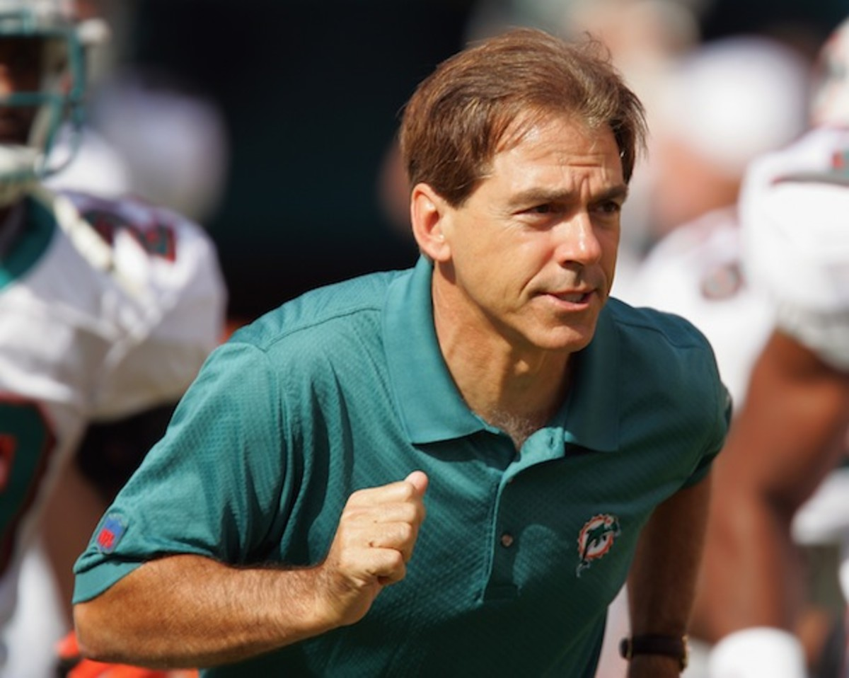 Former Dolphins and definitely not future Longhorns coach Nick Saban. (AP)