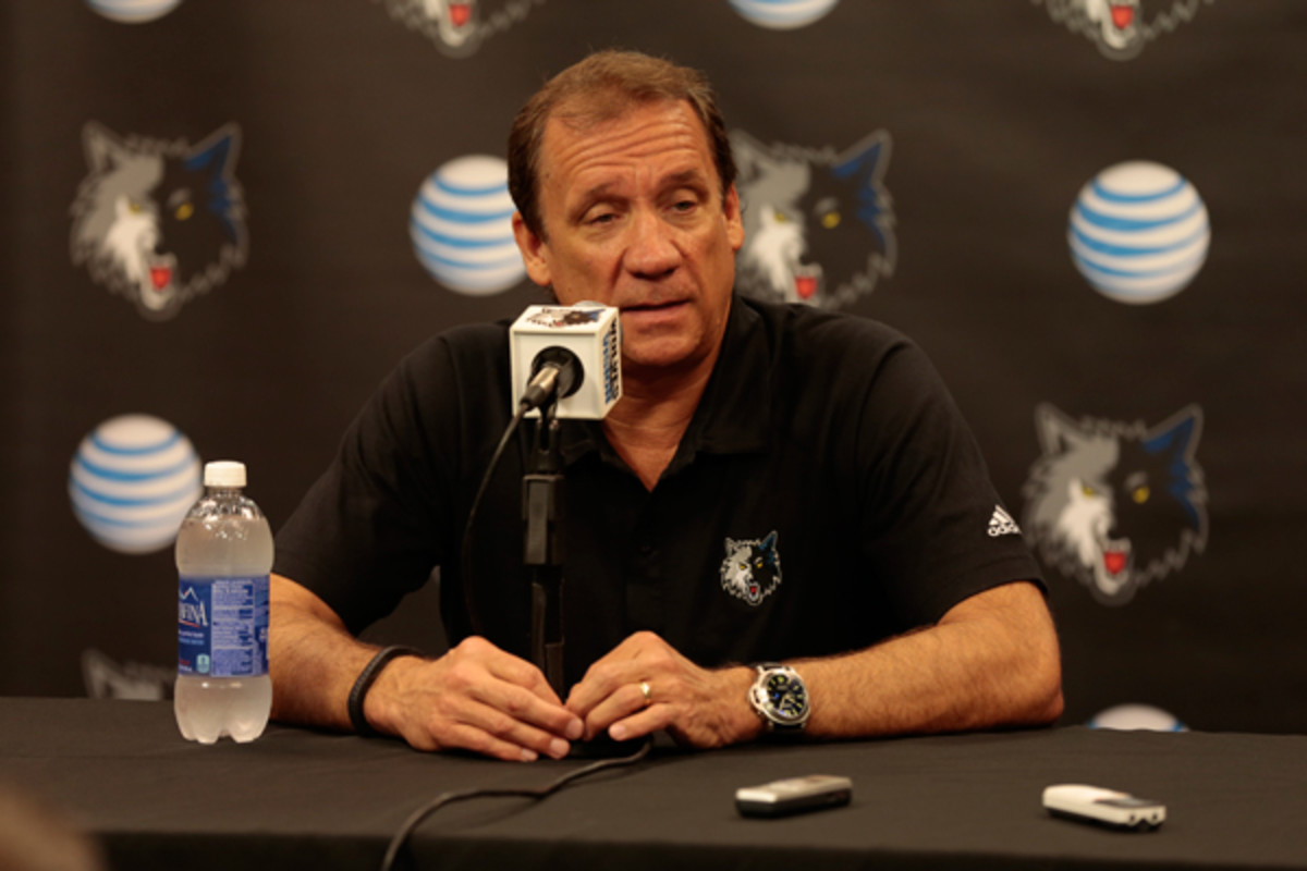 New Timberwolves president Flip Saunders has hired a GM. (Jordan Johnson/Getty Images)