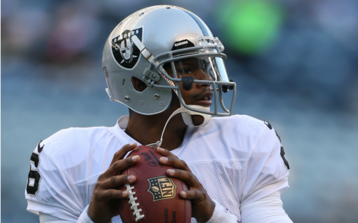 Terrelle Pryor will be the Raiders' starting quarterback on Sunday. (Otto Greule Jr./Getty Images)