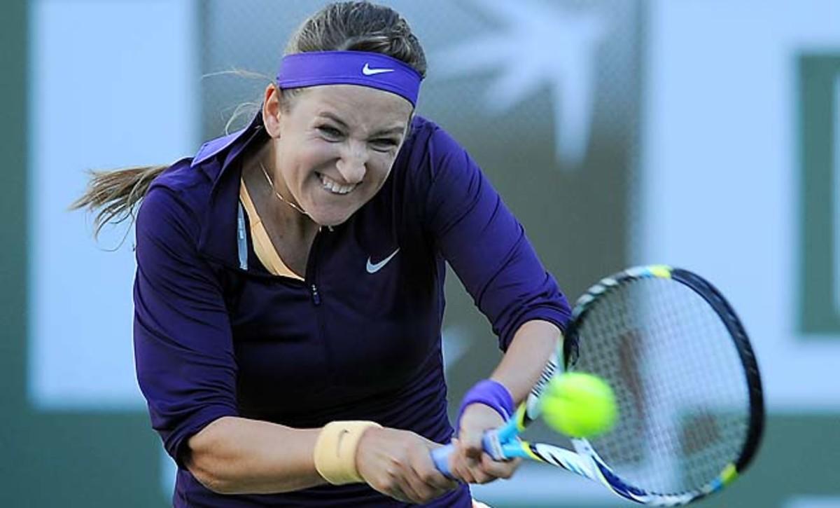 Victoria Azarenka dropped to No. 3 in the WTA rankings after Maria Sharapova won last week.
