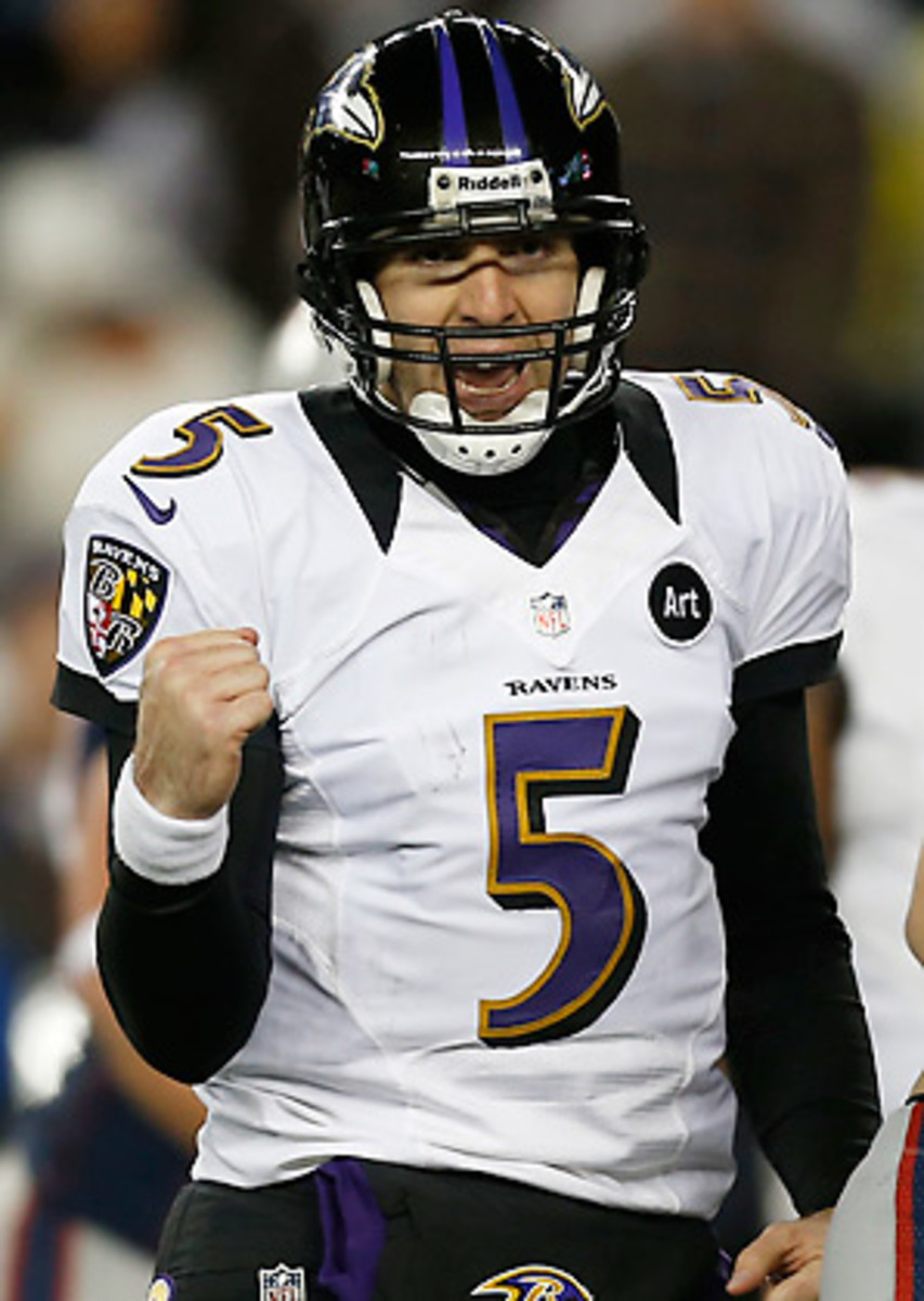 Joe Flacco's new contract reportedly includes $52 million in guaranteed money. (Stacy Revere/Getty Images)