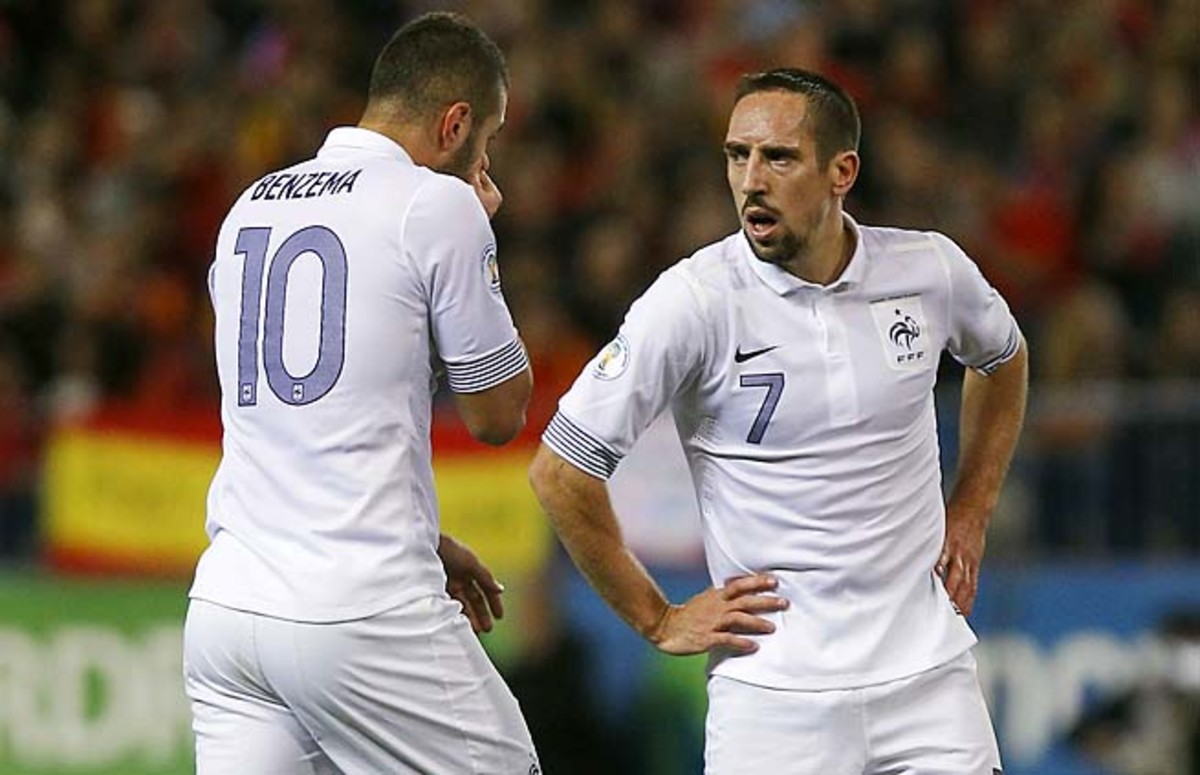 Karim Benzema, Franck Ribery and France are in second place in their World Cup qualifying group.