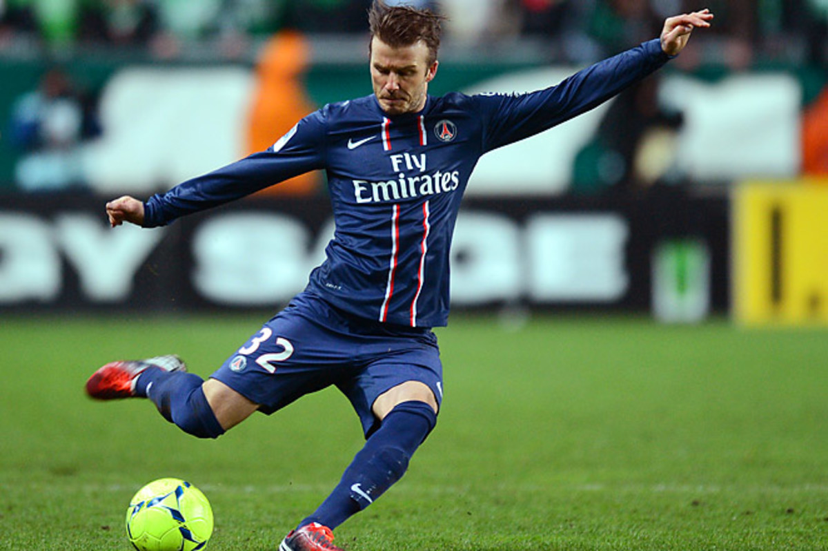 Beckham hopes to lead PSG in its first Champions League quarterfinal since 1995.