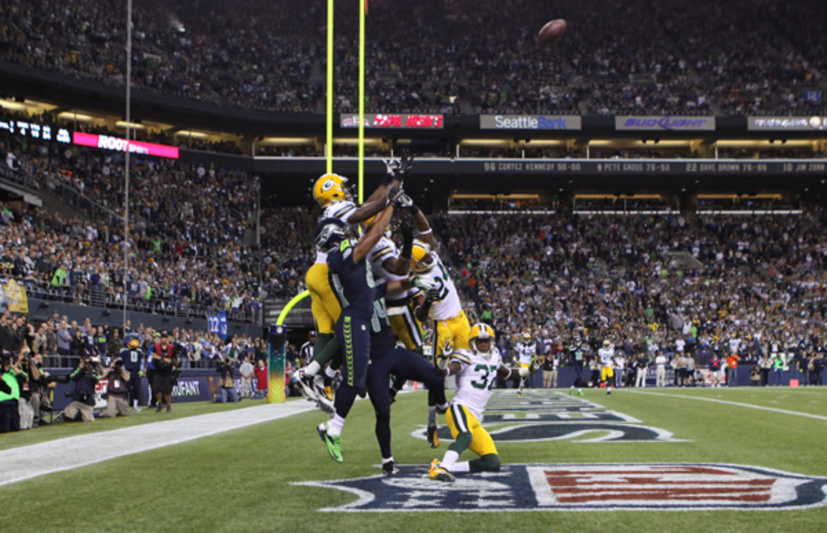 The Packers would rather never hear about this play again. (Otto Greule, Jr./Getty Images)