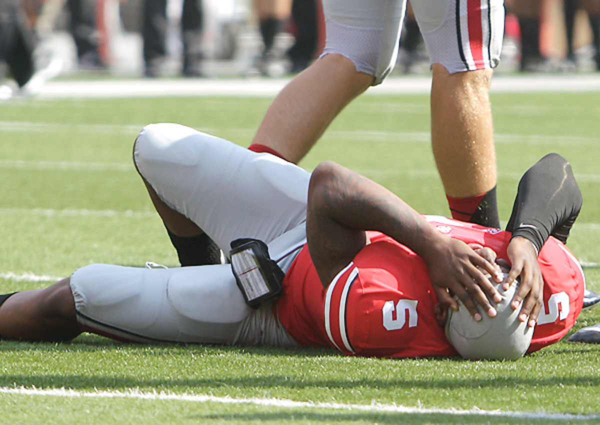 Ohio State quarterback Braxton Miller has not played since injuring his MCL against San Diego State in Week 2.