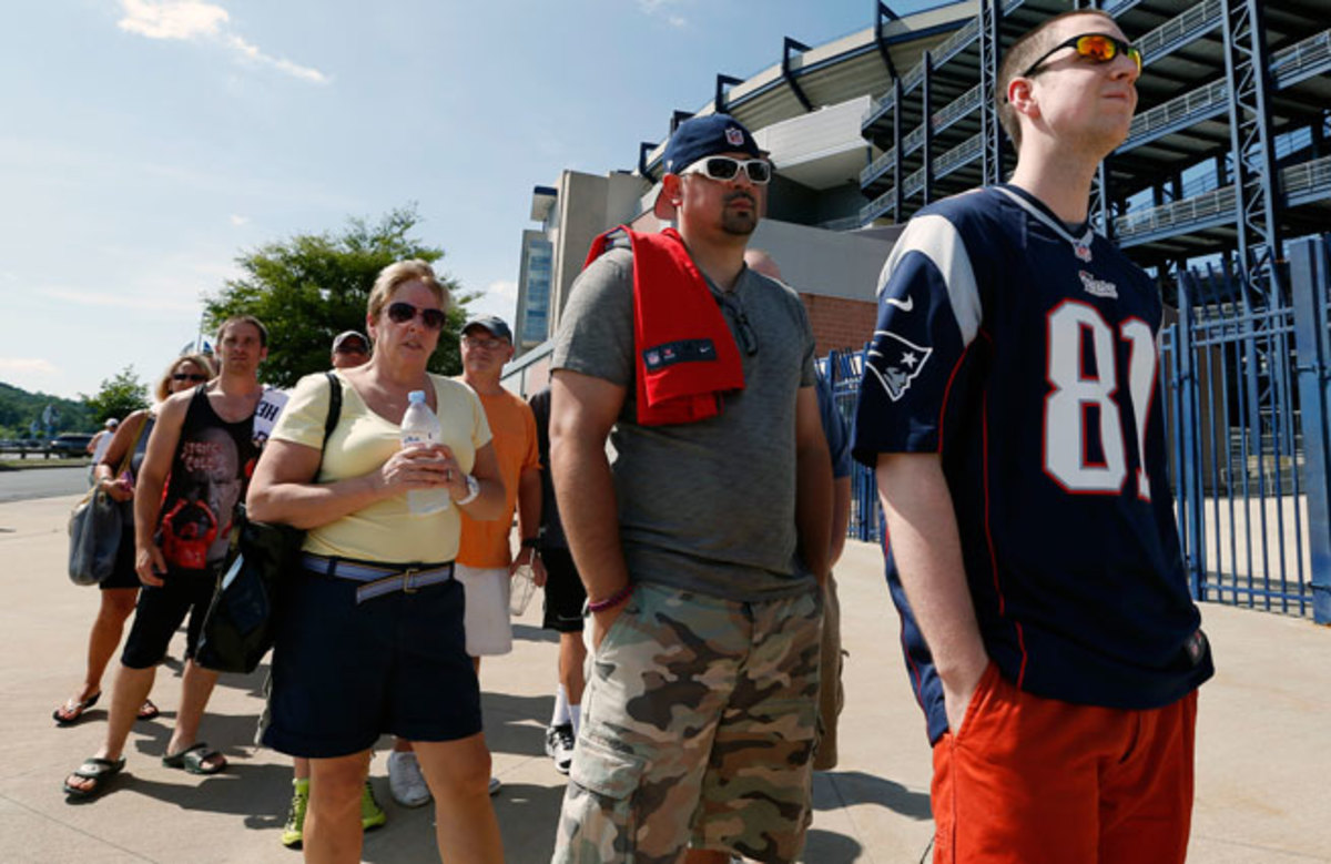The Patriots allowed fans to trade in their Aaron Hernandez jerseys for any other Pats jersey.