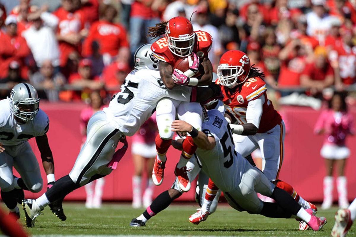 Dexter McCluster, Raiders at Chiefs, Week 6. (David E. Klutho)