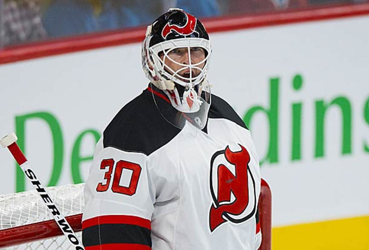 Martin Brodeur of the New Jersey Devils will see his streak of opening night starts end