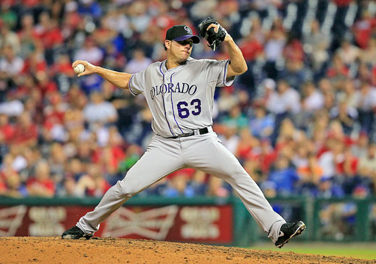 Rafael Betancourt had gone 2-5 with a 4.08 ERA for the Rockies this season.