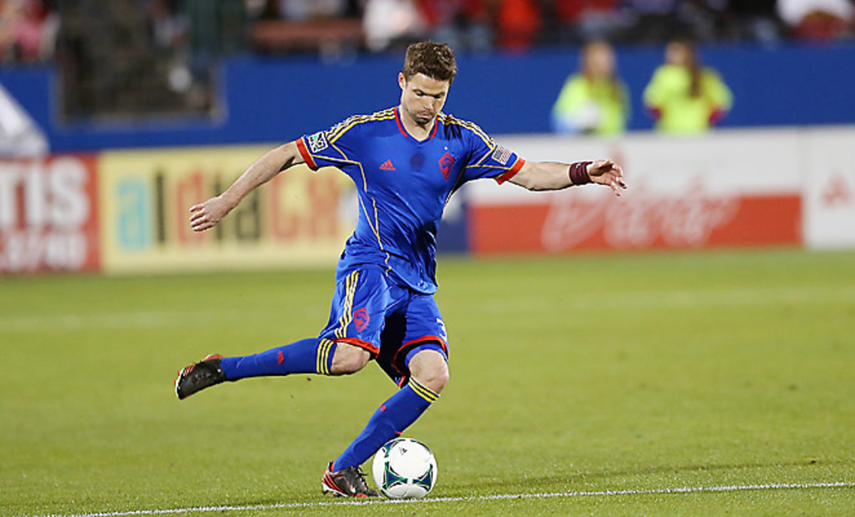 Drew Moor has been a mainstay of the Rapids defense, having started all four of their games in 2013.