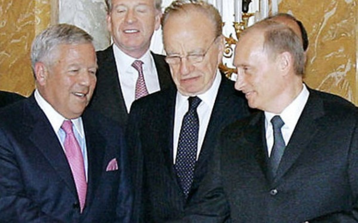 Russian president Vladmir Putin says he is willing to buy a new ring for Patriots owner Robert Kraft. (AP Photo)