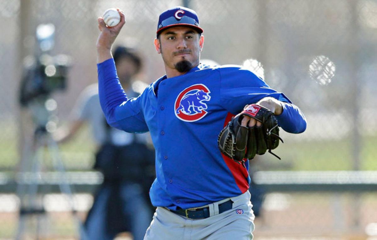 Matt Garza will undergo an MRI to determine the severity of an injury he suffered in batting practice.