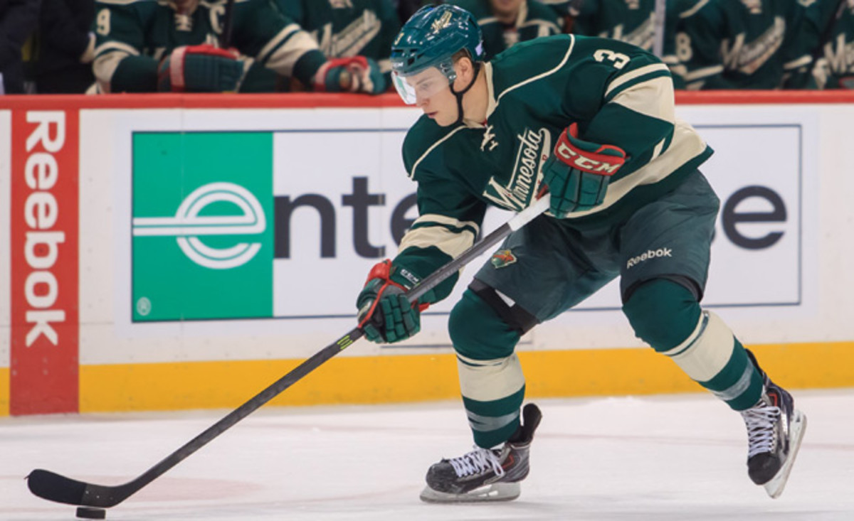 Charlie Coyle racked up eight goals and 14 points in 37 games with the Wild in his first NHL season.