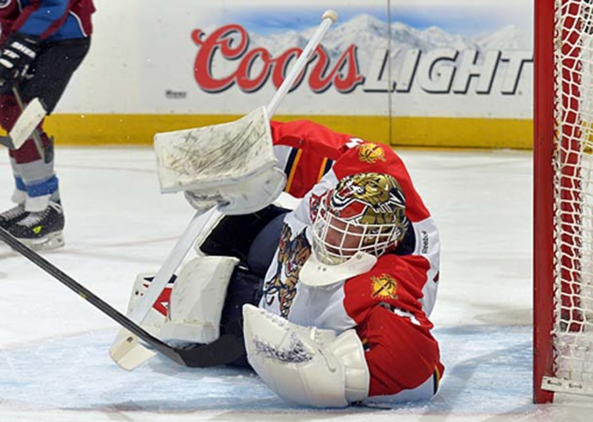 Tim Thomas of the Florida Panthers is bidding for a Team USA roster spot for Sochi.