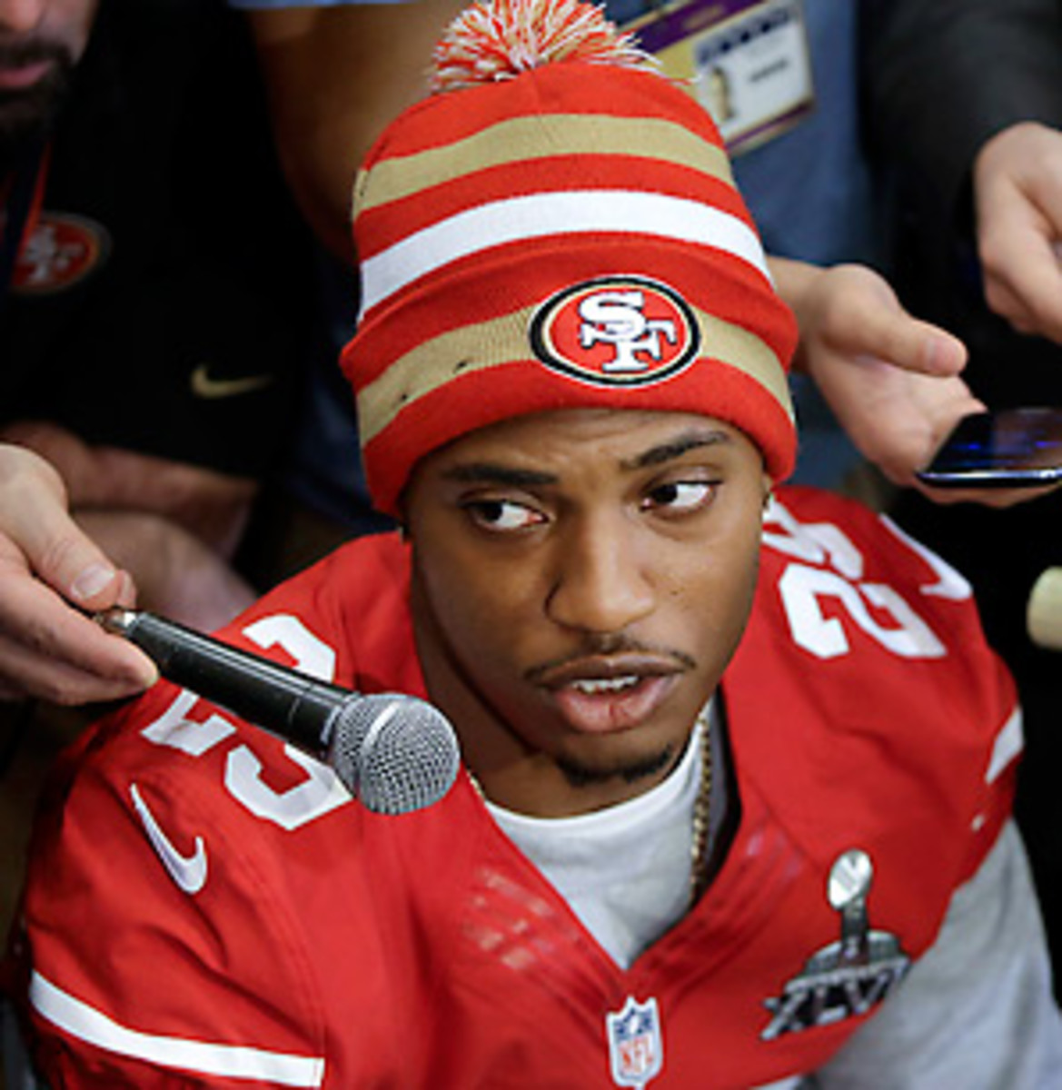 Chris Culliver's comments created a controversy around the 49ers late Wednesday. (AP)