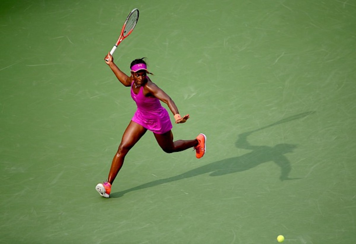 Twice this year, Sloane has outlasted Serena at a Slam. (Clive Brunskill/Getty Images)