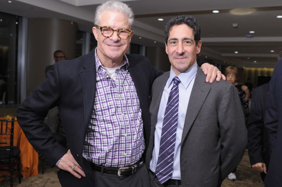 HBO Sports president Ken Hershman (right), pictured with Jim Lampley, has been with HBO since '12.