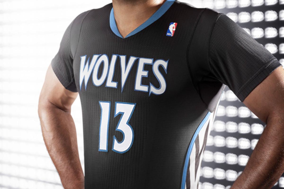 Timberwolves debut black, sleeved 'Lights Out' alternate jerseys ...