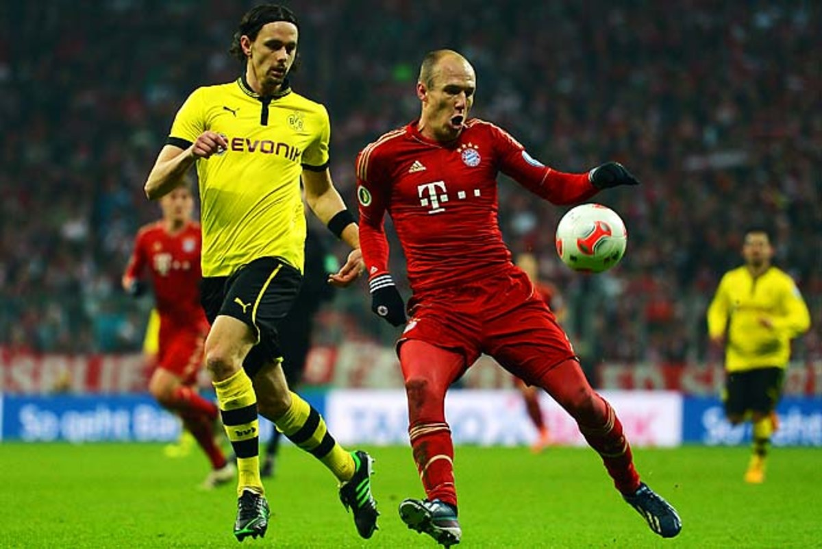 Arjen Robben's Bayern Munich has lost two of the last three Champions League finals.