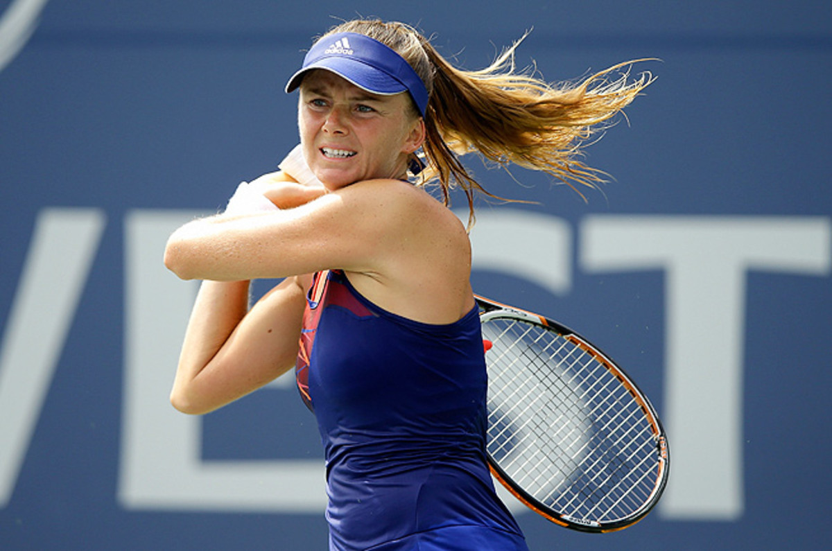 Daniela Hantuchova beat Yanina Wickmayer 6-2, 4-6, 6-2 in the first round at Stanford.